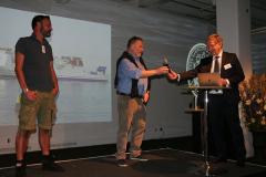 Karl Karell (t.h.) med Eric Ericsson och John Andersson, m/s Sena Jutlandica.