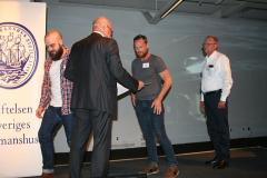Ove Eriksson med Henrik Ottosson, Fredrik Weidinger och Jan-Olof Rosén, m/s Stena Danica.
