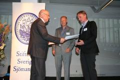 Ove Eriksson med Anders Sjöblom, Stena Vision/Terminaler och Christer Menfors, Stena Vision.