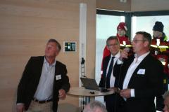 1:e reparatörerna Johan Nordberg och Kenneth Blomkvist, Viking Cinderella, samt Karl Karell.