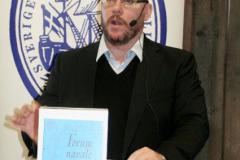 Jerker Widén presenterade Forum Navale. Foto: Torbjörn Dalnäs