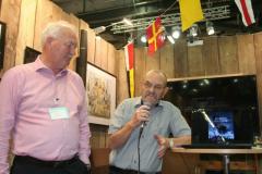 Lennart Fougelberg och författaren John E Persson.