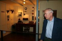 Claes-Göran Wetterholm på Titanic-utställningen.