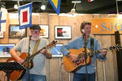 """Bosse Andersson och Leif """"Pedda"""" Pedersen, sånggruppen KAL."""