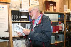 Sjöingenjör L.G. Bengtsson på besök i Sjöfartsmontern.